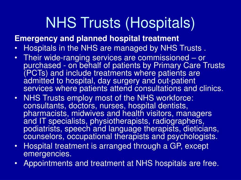 NHS Trusts (Hospitals)