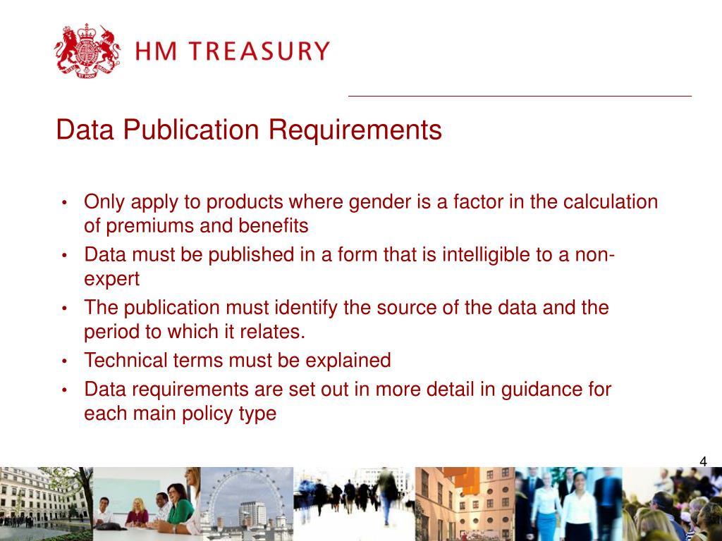 Data Publication Requirements