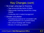 key changes cont