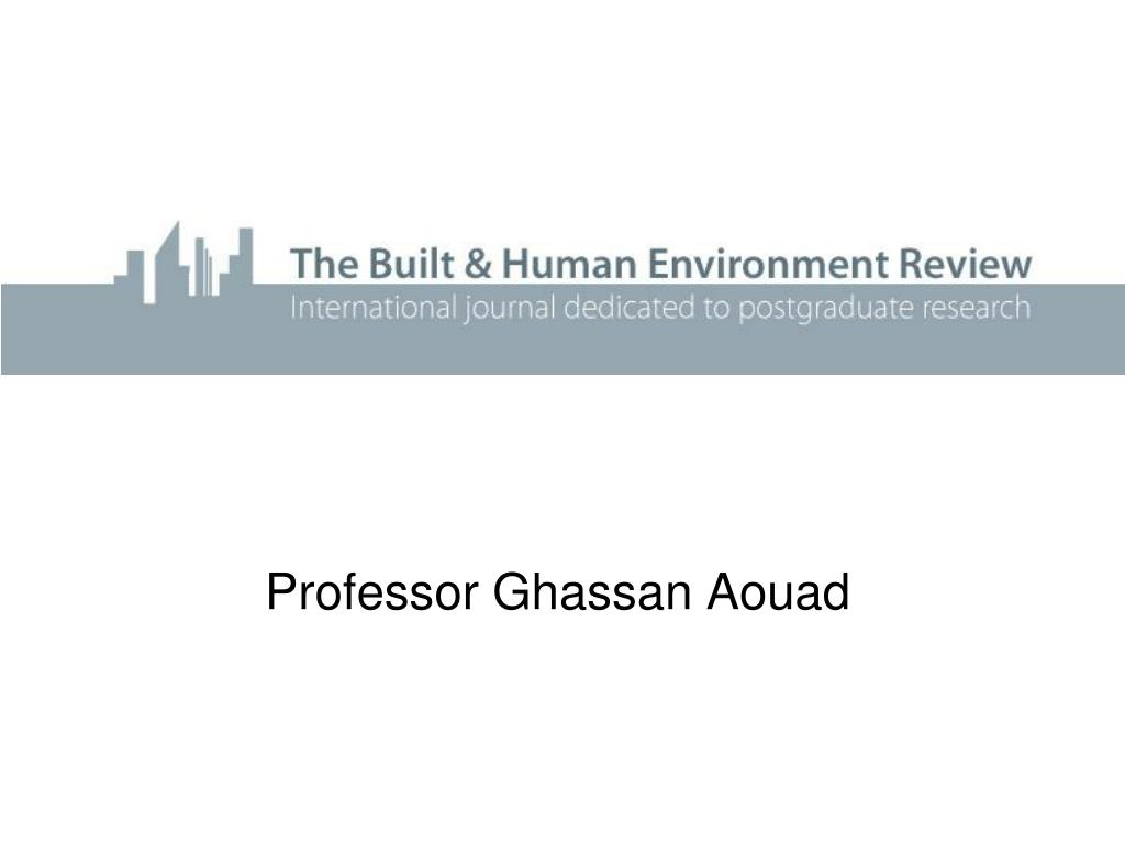 Professor Ghassan Aouad