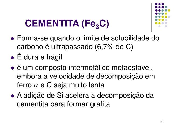 CEMENTITA (Fe