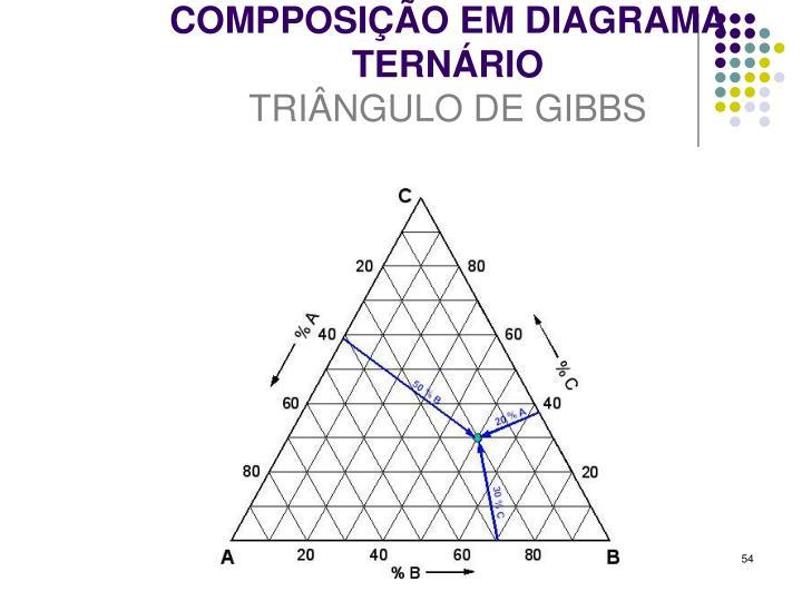 COMPPOSIÇÃO EM DIAGRAMA TERNÁRIO