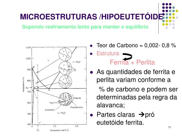 MICROESTRUTURAS /HIPOEUTETÓIDE
