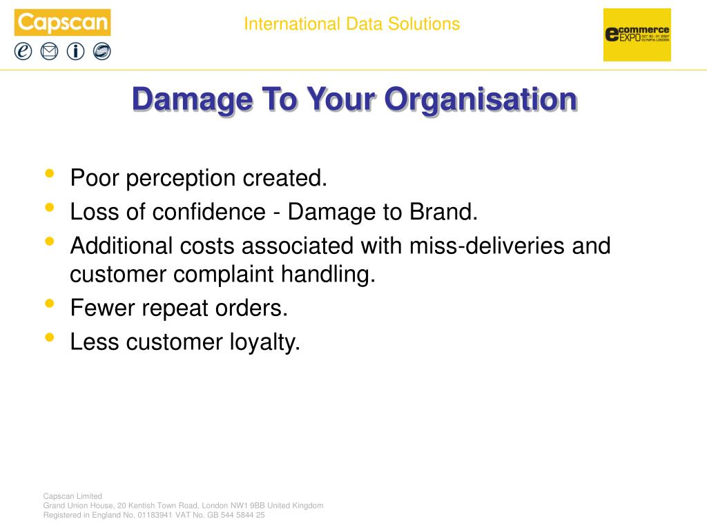 Damage To Your Organisation