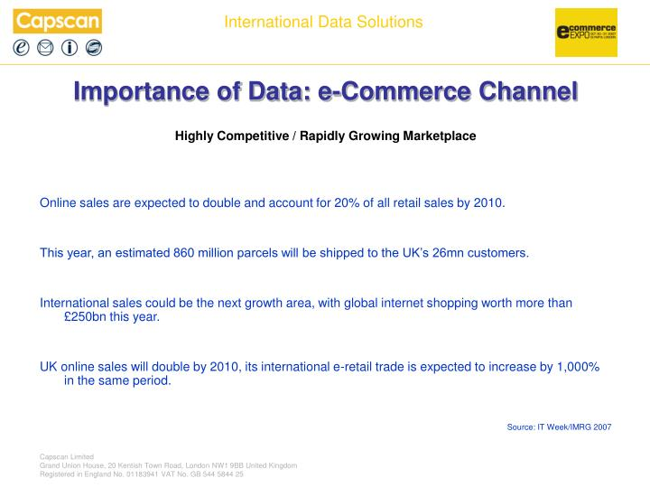 Importance of data e commerce channel l.jpg