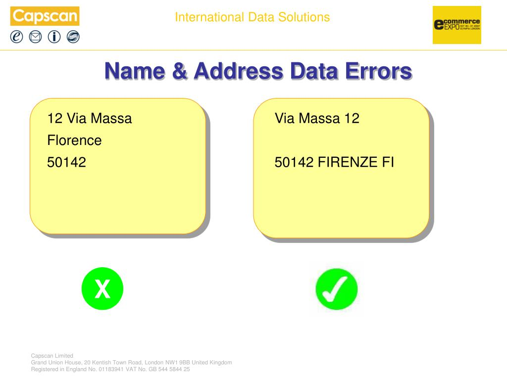 Name & Address Data Errors