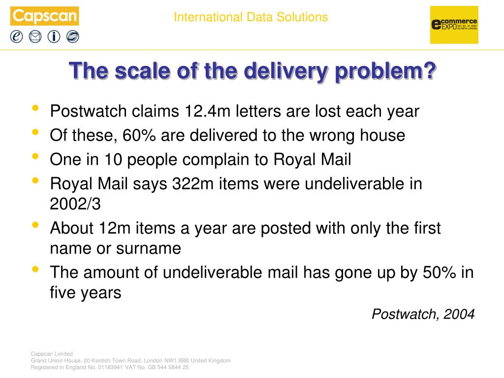 The scale of the delivery problem?