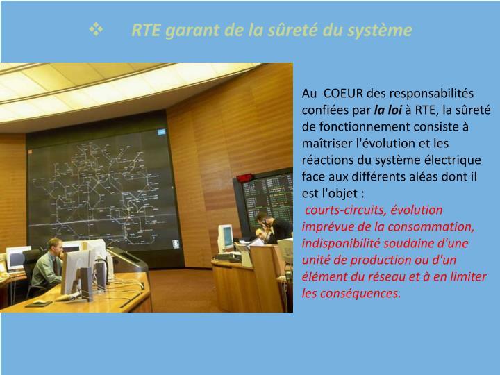 RTE garant de la sûreté du système