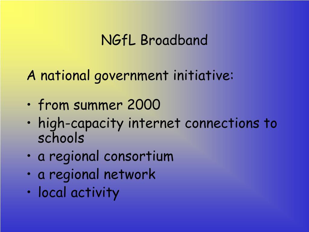NGfL Broadband