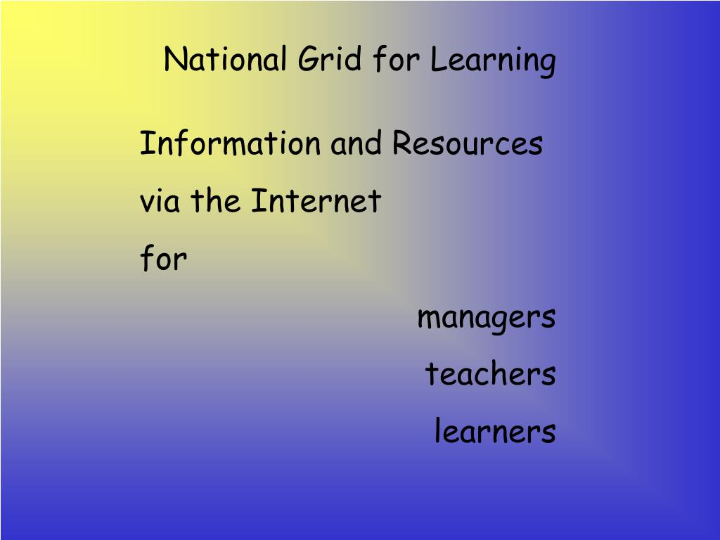 National Grid for Learning