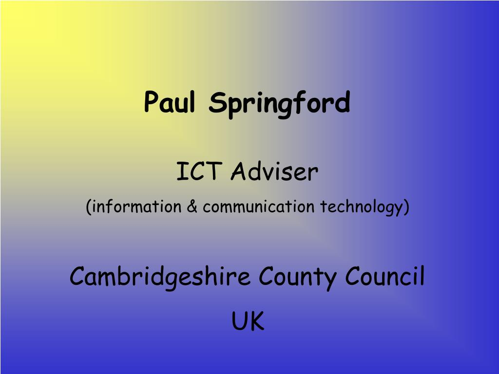 Paul Springford