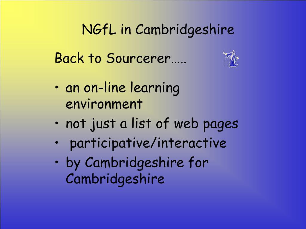 NGfL in Cambridgeshire