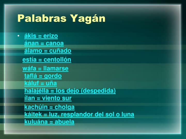Palabras Yagán