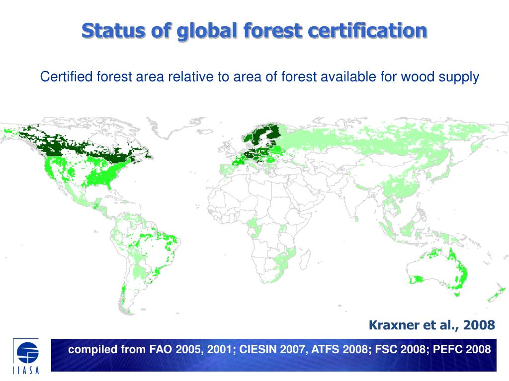Status of global forest certification