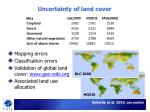 uncertainty of land cover