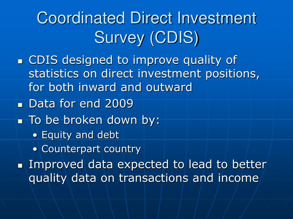 Coordinated Direct Investment Survey (CDIS)