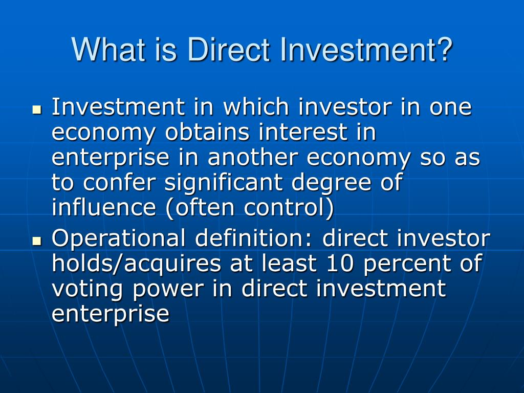 What is Direct Investment?