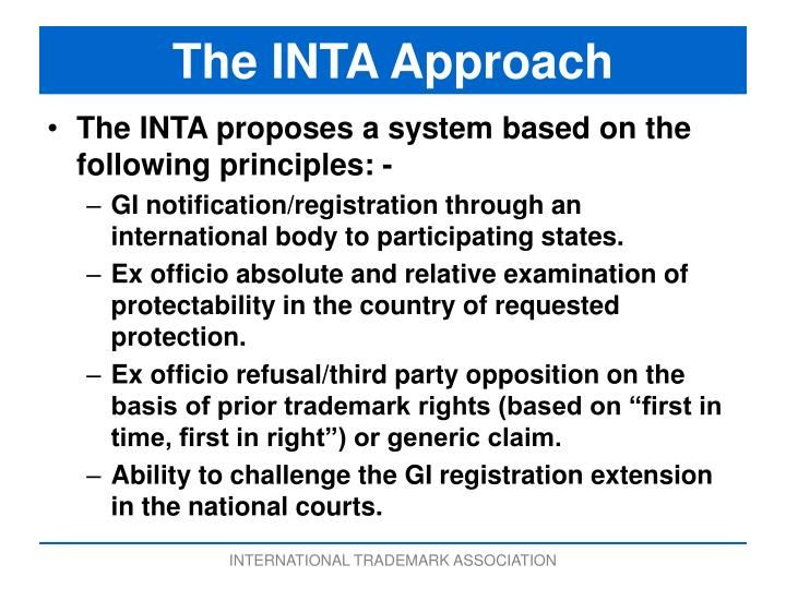 The INTA Approach