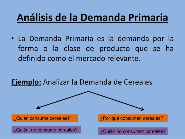 Análisis de la Demanda Primaria