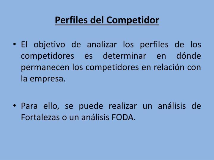 Perfiles del Competidor
