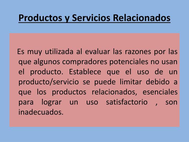Productos y Servicios Relacionados