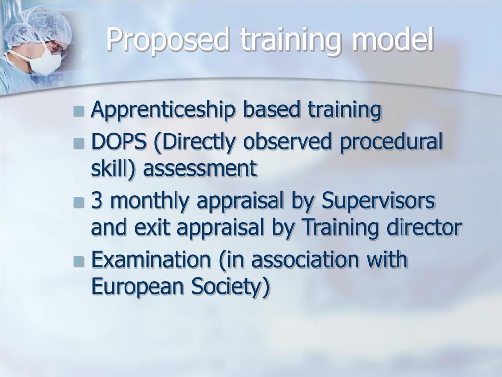 Proposed training model