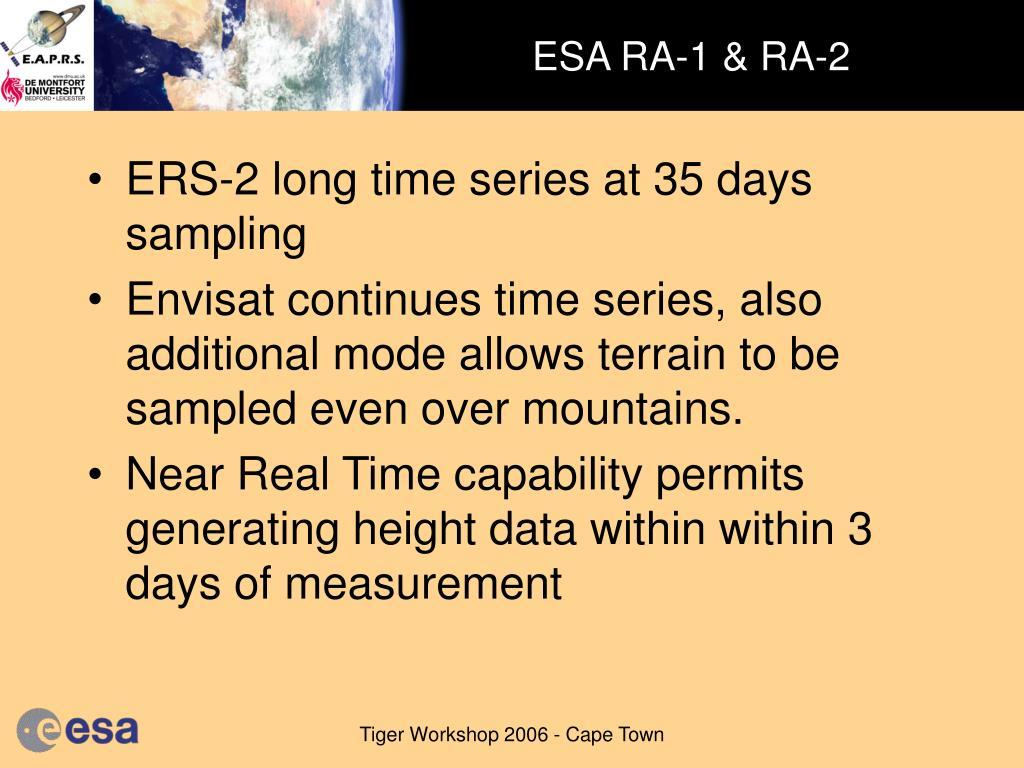 ESA RA-1 & RA-2