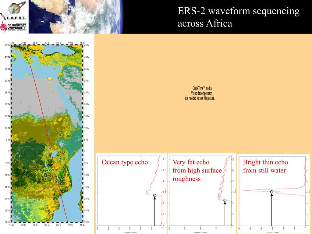 ERS-2 waveform sequencing