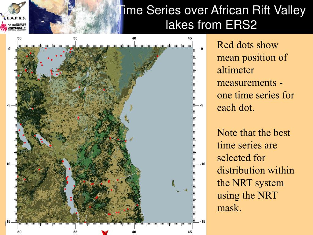 Time Series over African Rift Valley lakes from ERS2