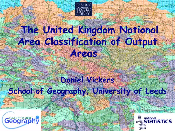 The united kingdom national area classification of output areas