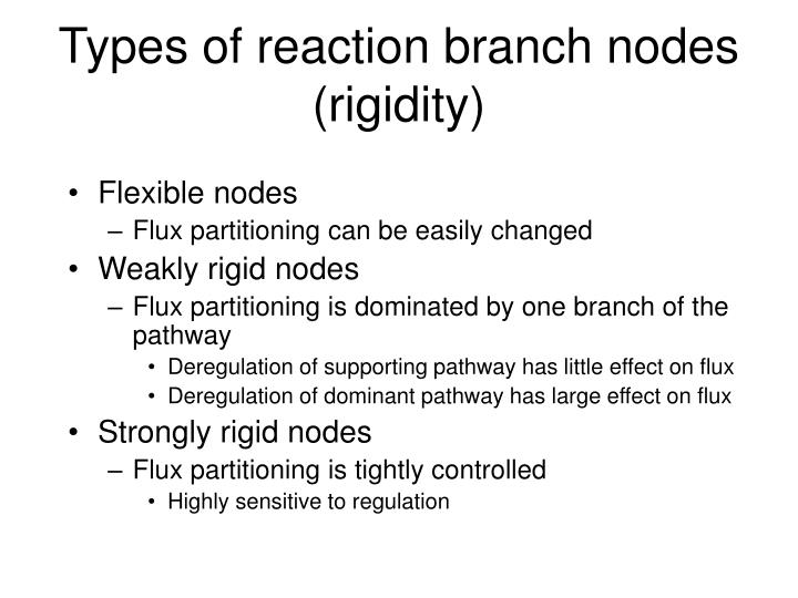 Types of reaction branch nodes (rigidity)