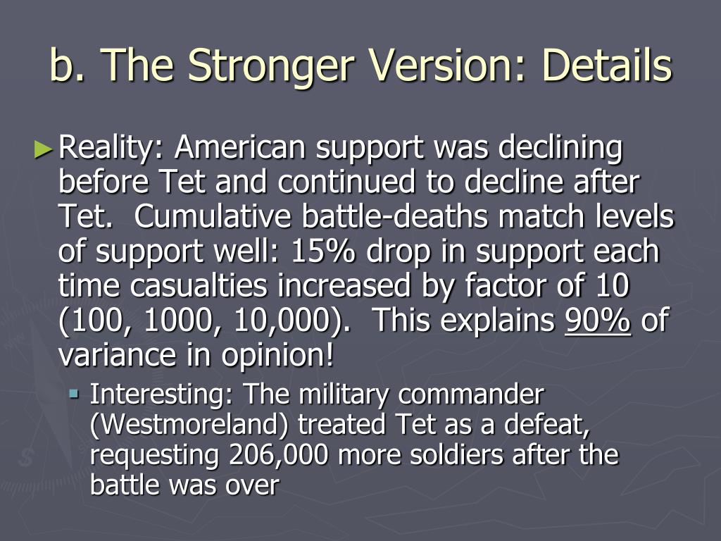 b. The Stronger Version: Details
