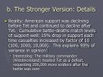 b the stronger version details