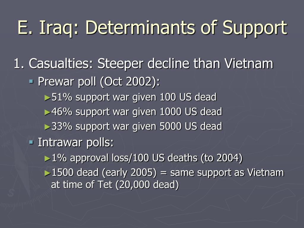 E. Iraq: Determinants of Support