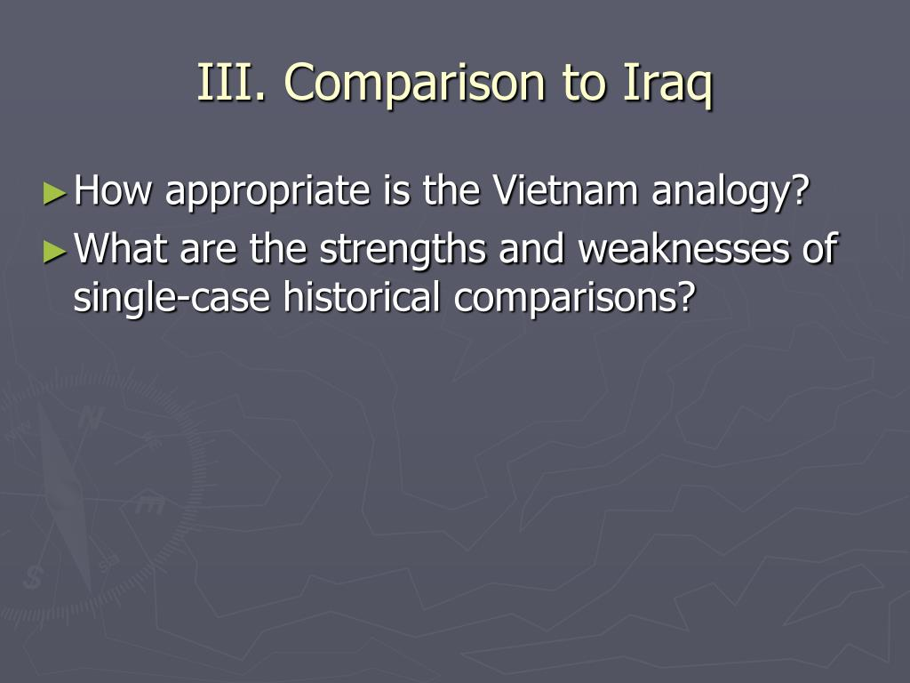 III. Comparison to Iraq
