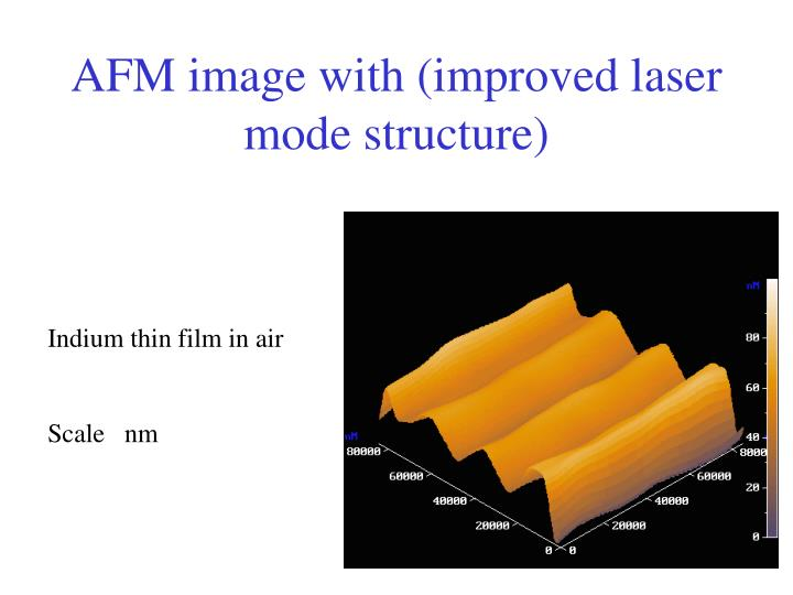 AFM image with (improved laser mode structure)
