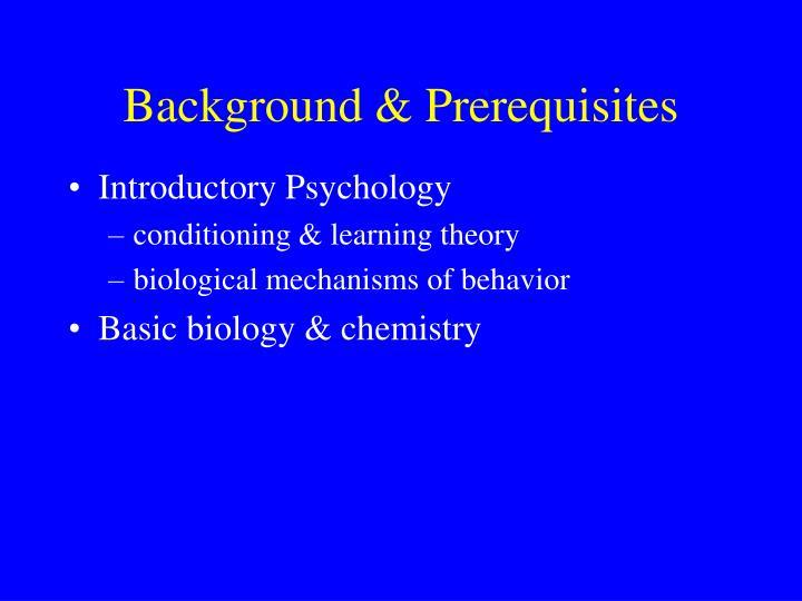 Background & Prerequisites