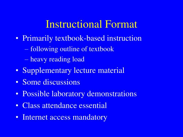 Instructional Format