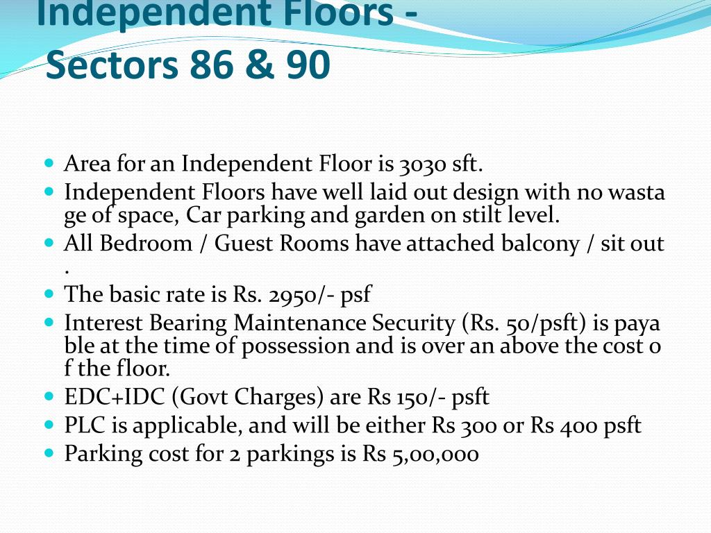 Independent Floors - Sectors 86 & 90