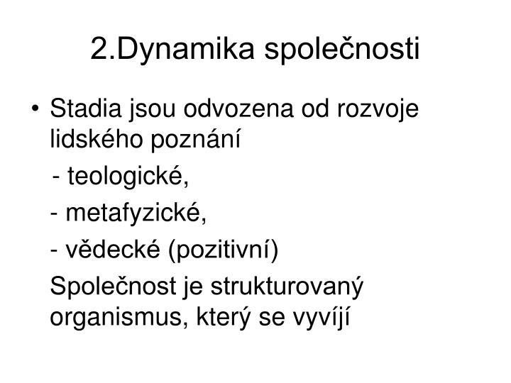 2.Dynamika spolenosti