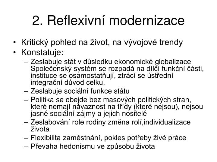 2. Reflexivn modernizace