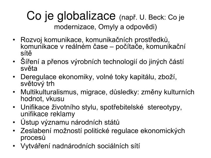 Co je globalizace