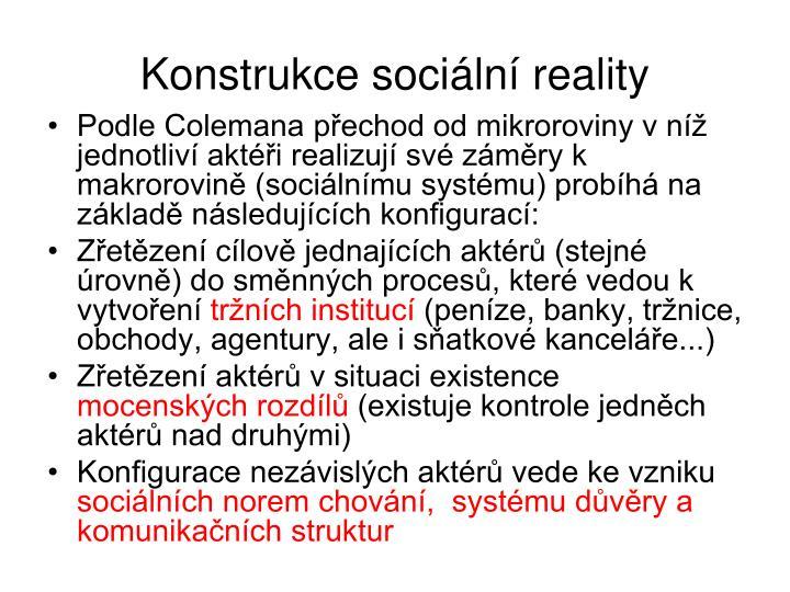 Konstrukce sociln reality