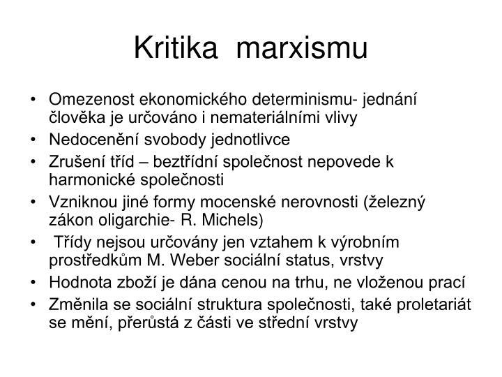 Kritika  marxismu