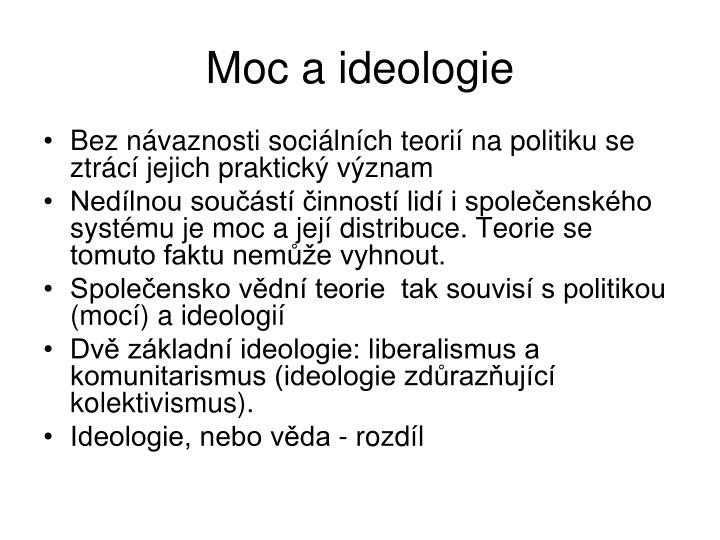 Moc a ideologie