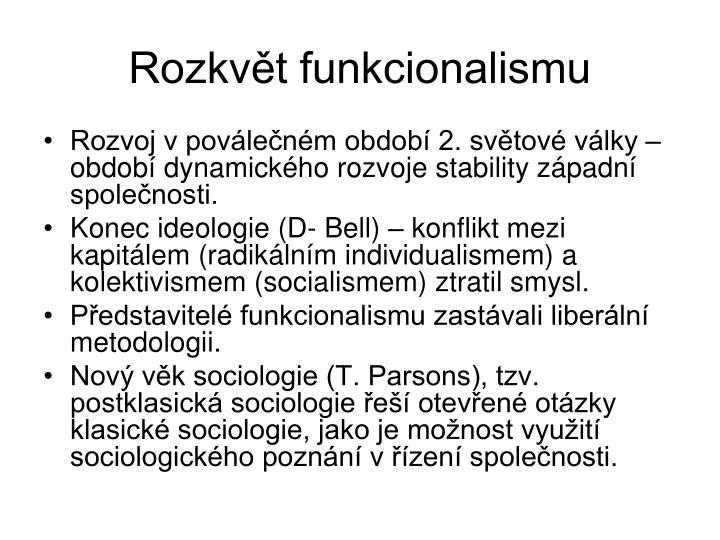 Rozkvt funkcionalismu
