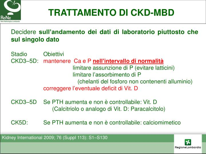 TRATTAMENTO DI CKD-MBD