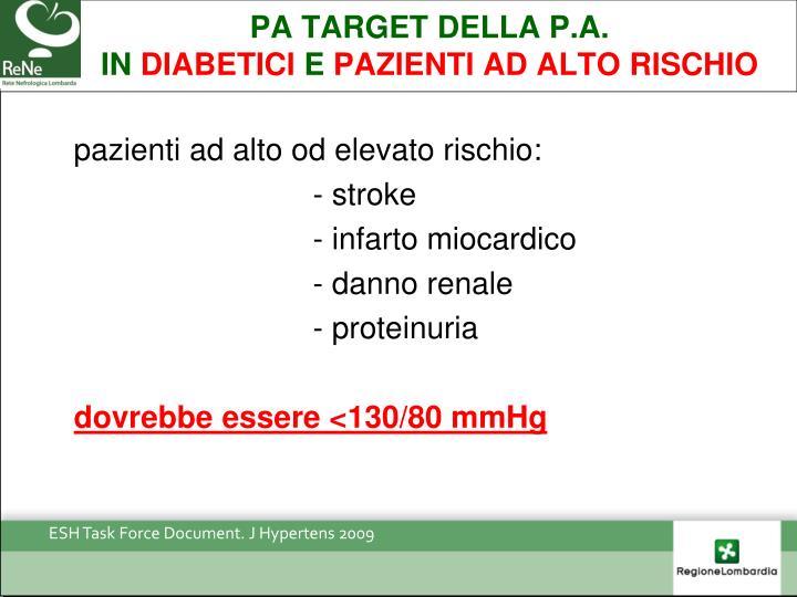 PA target DELLA P.A.