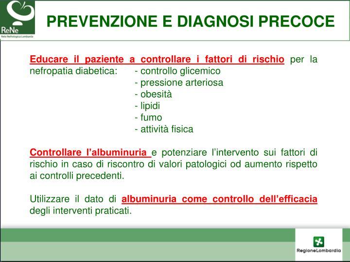 prevenzione e