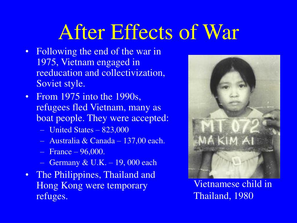 After Effects of War